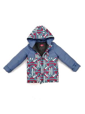 Куртка серая с принтом | 4977144