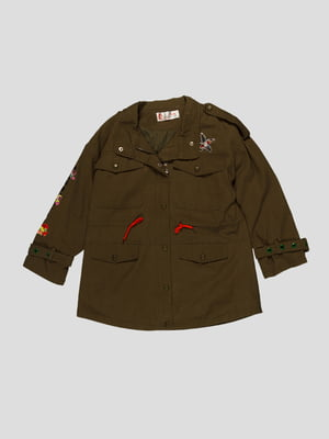 Куртка кольору хакі | 4988373