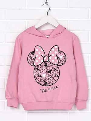 Худи розовая с принтом | 4985147