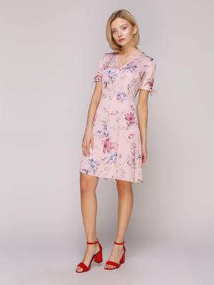 Сукня рожева у квітковий принт | 4951503