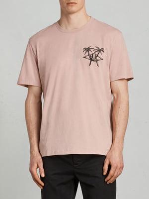 Футболка рожева з принтом | 5010757