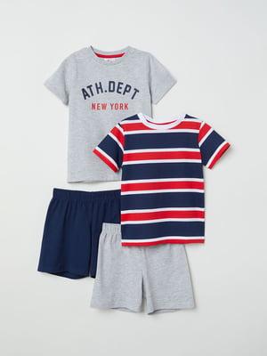 Набор комплектов (2 шт): футболка и шорты | 5011460