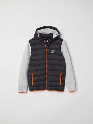 Куртка черно-серая | 5011918