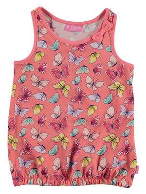 Майка розовая с принтом | 5014147