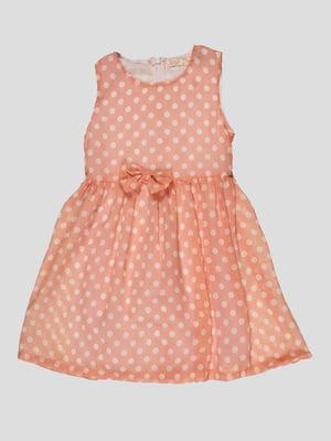 Платье розовое в горошек | 5010592