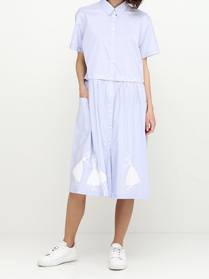 Платье голубое   5014500