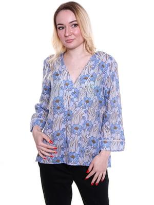 Блуза в цветочный принт | 4971959