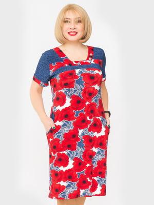 Платье в цветочный принт | 5027220