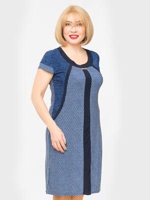 Сукня синя в горошок | 5027232
