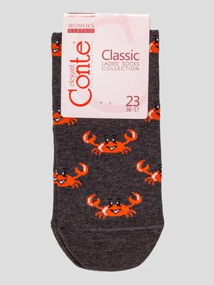 Шкарпетки темно-сірі | 4975527