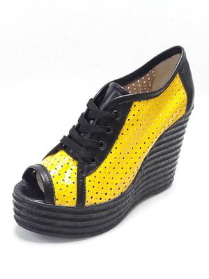 Ботильоны черно-желтые   5027244