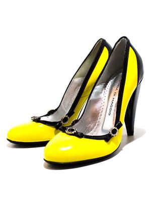 Туфлі жовто-чорні | 5026675