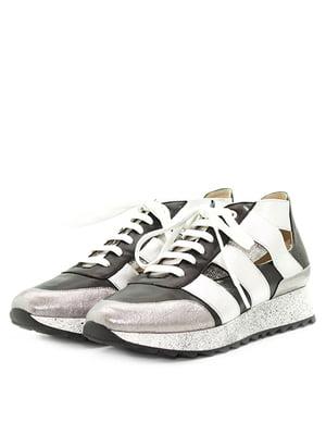 Кросівки чорно-сріблясті | 5026761