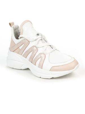 Кроссовки бело-розовые | 5015885