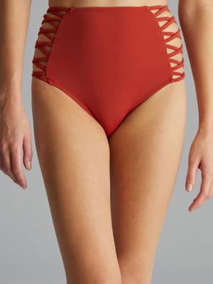 Труси купальні теракотового кольору | 4884923
