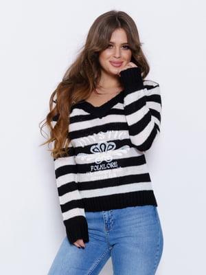 Пуловер в смужку | 4950959