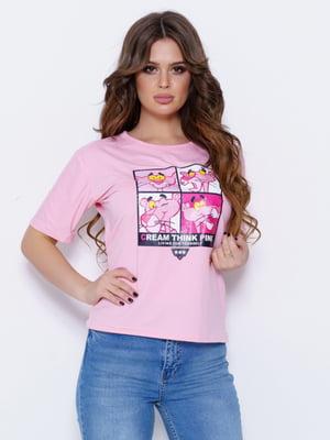 Футболка рожева | 5029530
