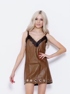 Платье коричневое | 5029783