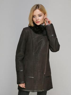 Дубленка темно-коричневая - Gessada - 5029819