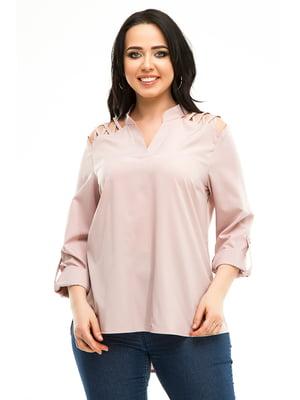 Блуза цвета пудры | 5010614