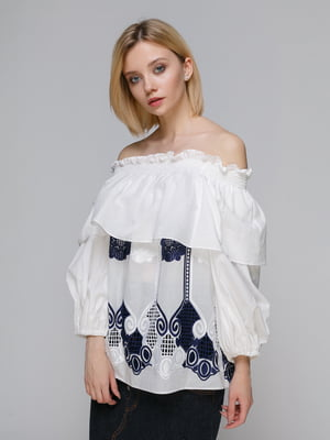 Блуза біло-синя | 4982704