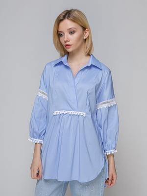 Блуза блакитна | 4982694
