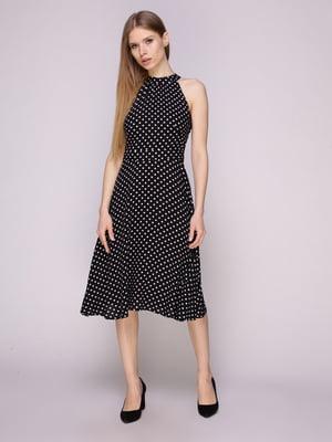 Платье черное в горох | 5029853