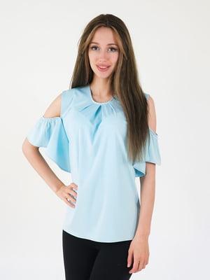 Блуза голубая   5035151