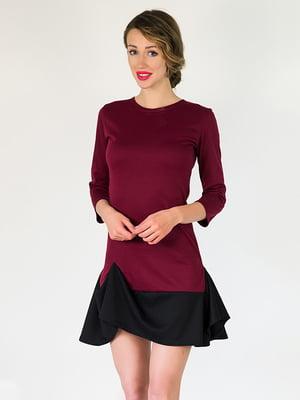 Платье бордовое | 5035340
