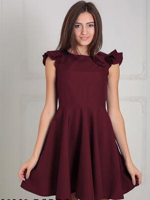 Платье бордовое | 5035396
