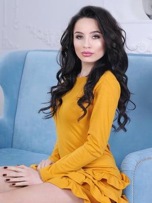 Платье горчичного цвета | 5035460