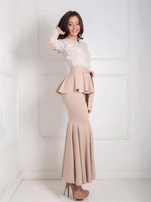 Платье бежевое | 5035519