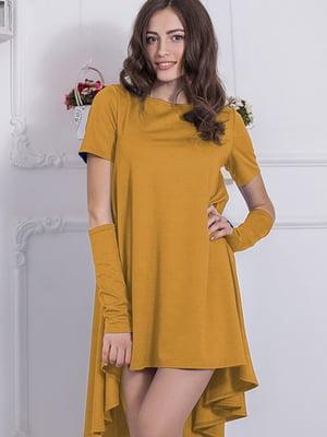 Платье горчичного цвета | 5035698