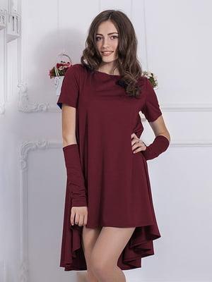 Платье бордовое | 5035699