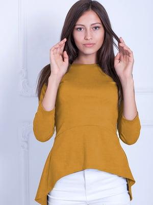 Блуза горчичного цвета   5035707