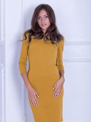 Платье горчичного цвета | 5035835