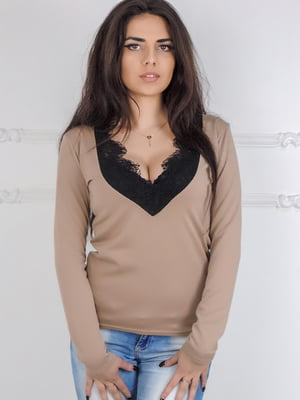 Блуза бежевая | 5035921