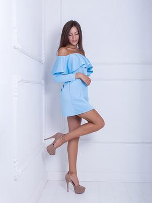 Платье голубое | 5036176