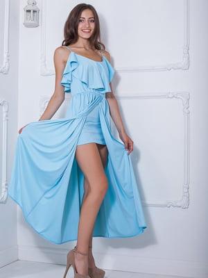 Платье голубое | 5036336