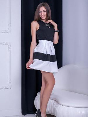 Юбка черно-белая   5036461