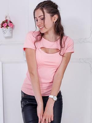 Футболка рожева | 5036679