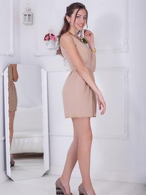 Платье бежевое | 5037224