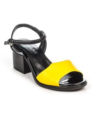 Босоніжки жовто-чорні | 4965229