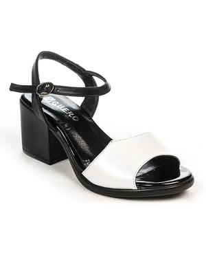 Босоножки черно-белые | 4965264