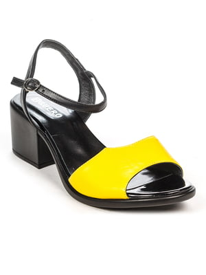 Босоножки желто-черные | 4965228