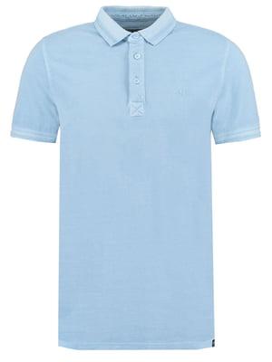 Футболка-поло блакитна | 5037515