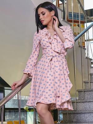 Платье персикового цвета в горошек | 5037670