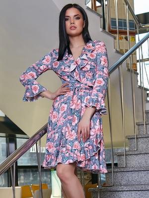 Платье в цветочный принт | 5037671