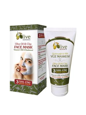 Маска з глини для обличчя з олівковою олією | 4986443