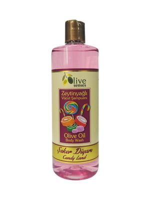 Гель для душа с оливковым маслом «Карамель» для ежедневного использования | 4986427